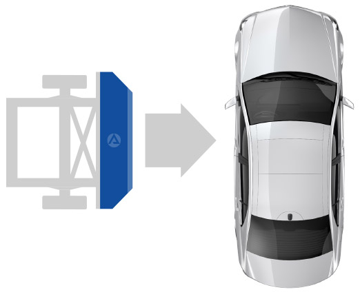 Euro NCAP Advanced European Mobile Progressive Deformable Barrier - Graphic