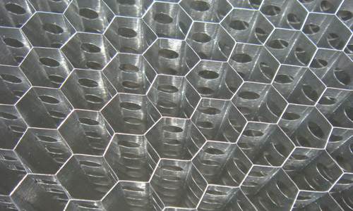 vented (drilled) honeycomb Core